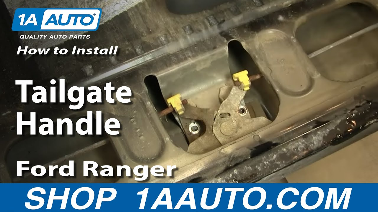 How to Replace Tailgate Handle 98-11 Ford Ranger