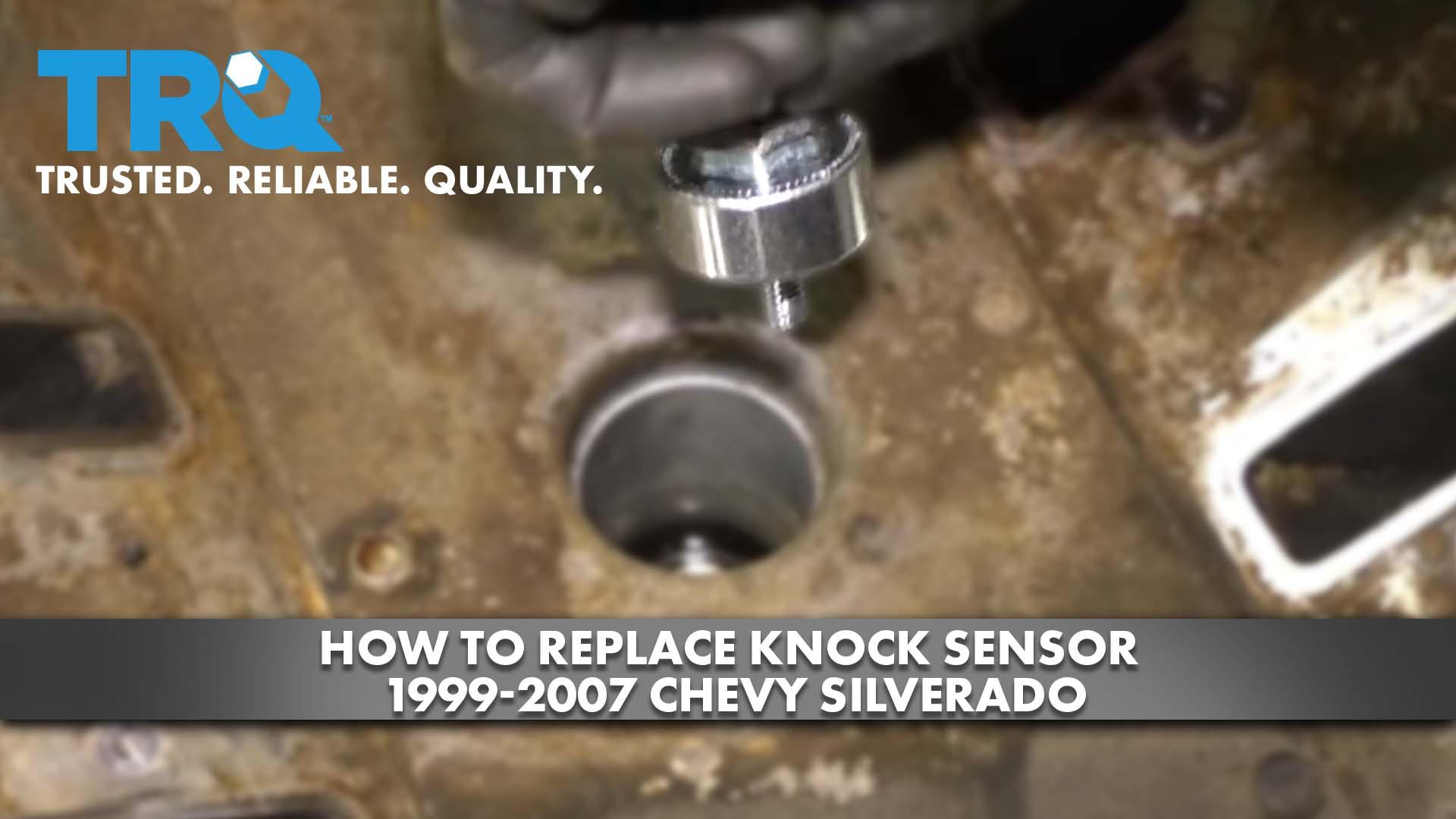 How to Replace Knock Sensors 1999-07 Chevy Silverado