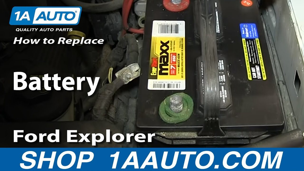 How to Replace Dead Battery 02-10 Mercury Mountaineer