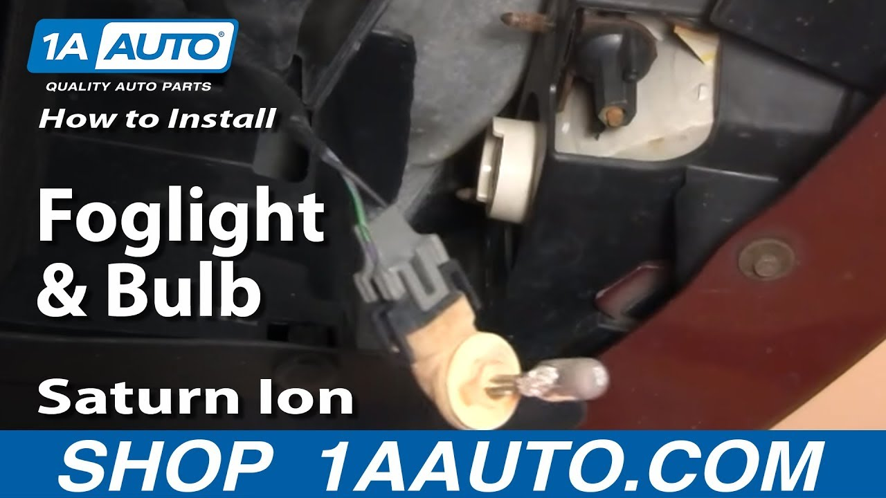 How to Replace Fog Lights & Bulbs 03-05 Saturn Ion