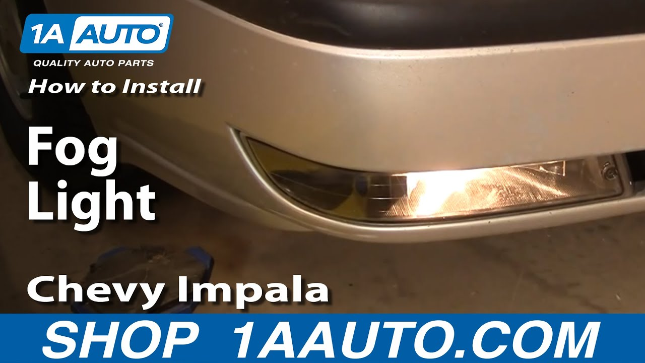 How to Replace Fog / Driving Light 00-05 Chevy Impala