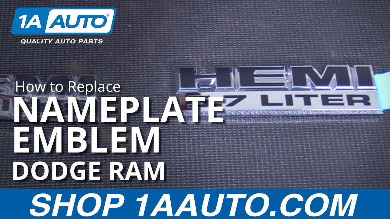 How to Replace Nameplate Emblem 06-10 Dodge Ram