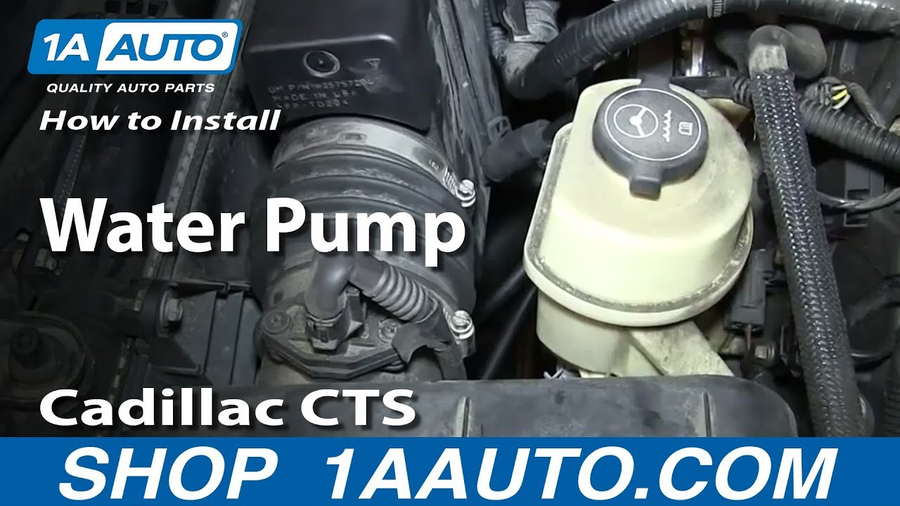 How To Replace Water Pump 2.8L 03-10 Cadillac CTS