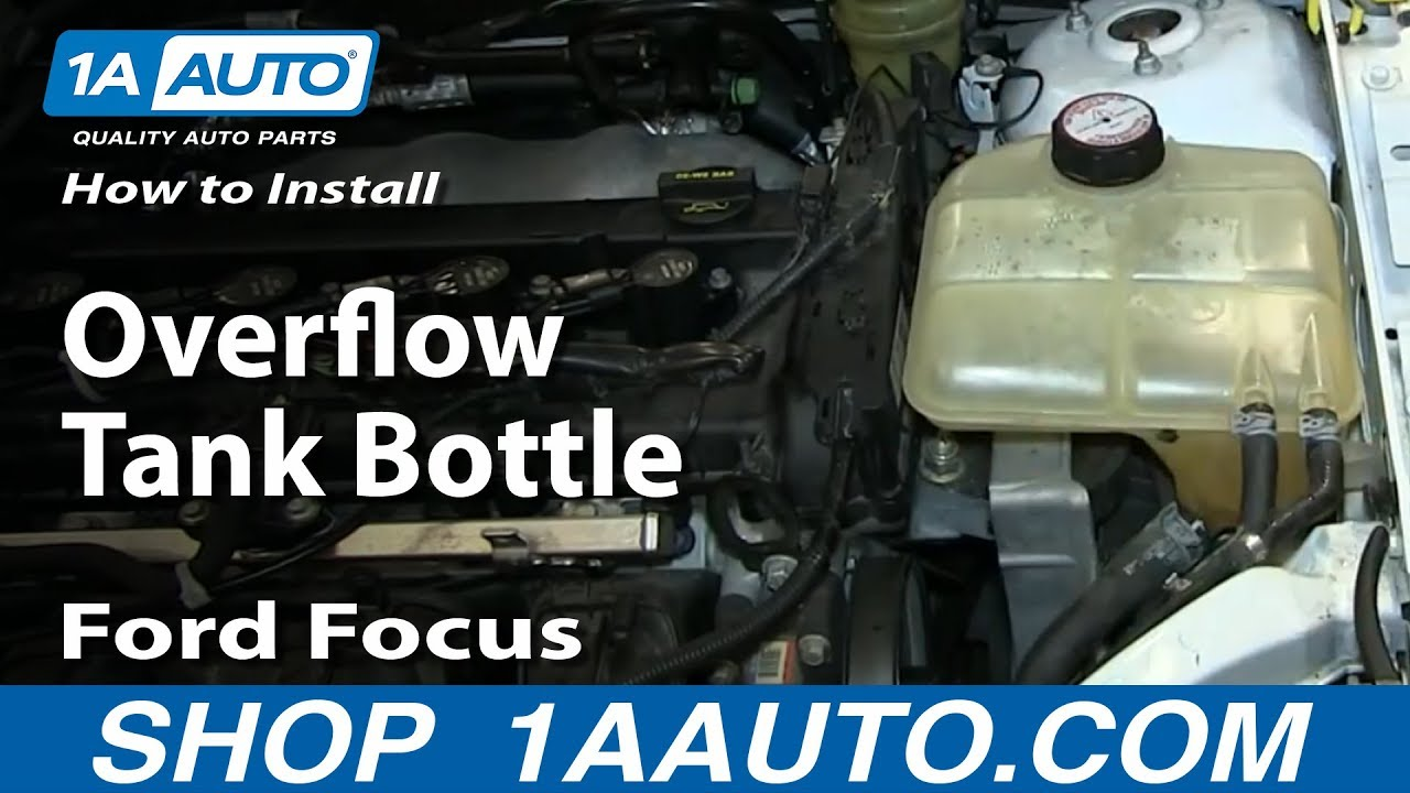 How to Replace Radiator Overflow Bottle 00-07 Ford Focus