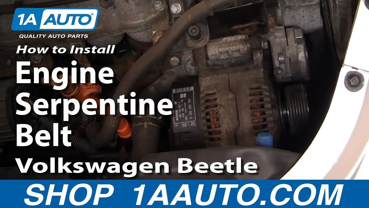 How To Replace Engine Serpentine Belt 98-05 Volkswagen Beetle