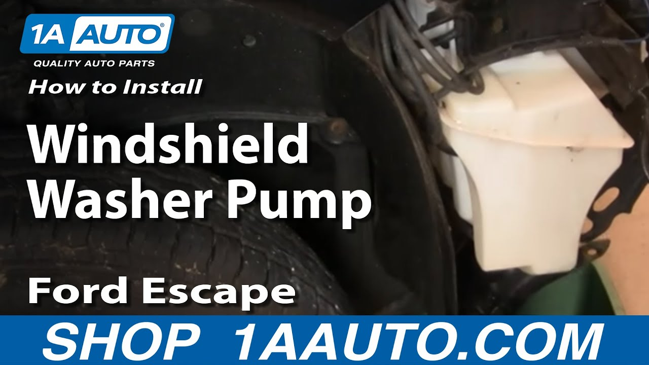How to Replace Windshield Washer Pump 01-07 Ford Escape