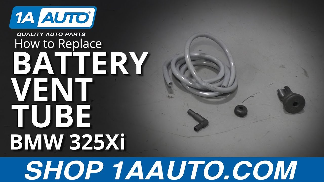 How to Replace Battery Vent Tube 01-06 BMW 325Xi