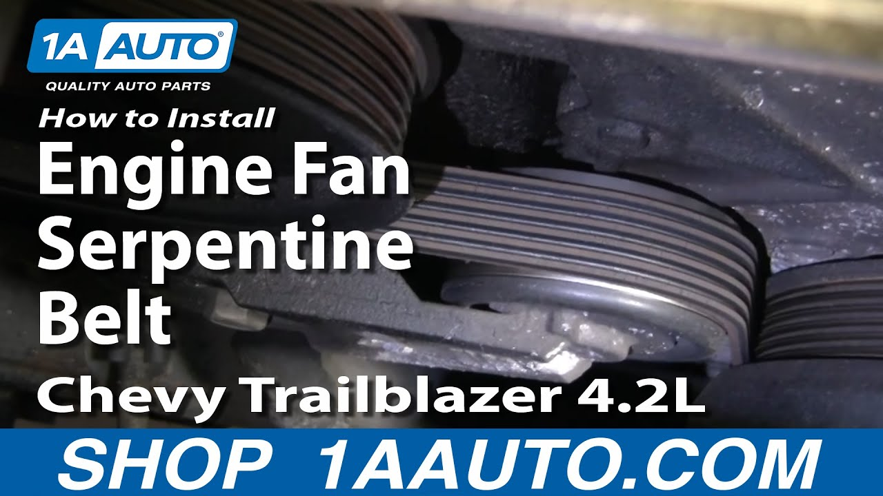 How to Replace Serpentine Belt 02-06 Chevy Trailblazer