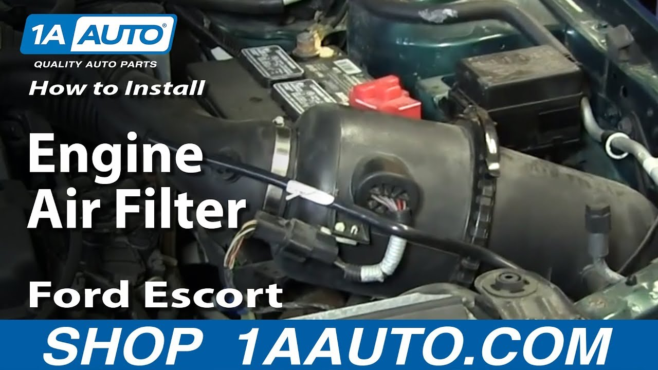How To Replace Engine Air Filter 97-03 Ford Escort ZX2