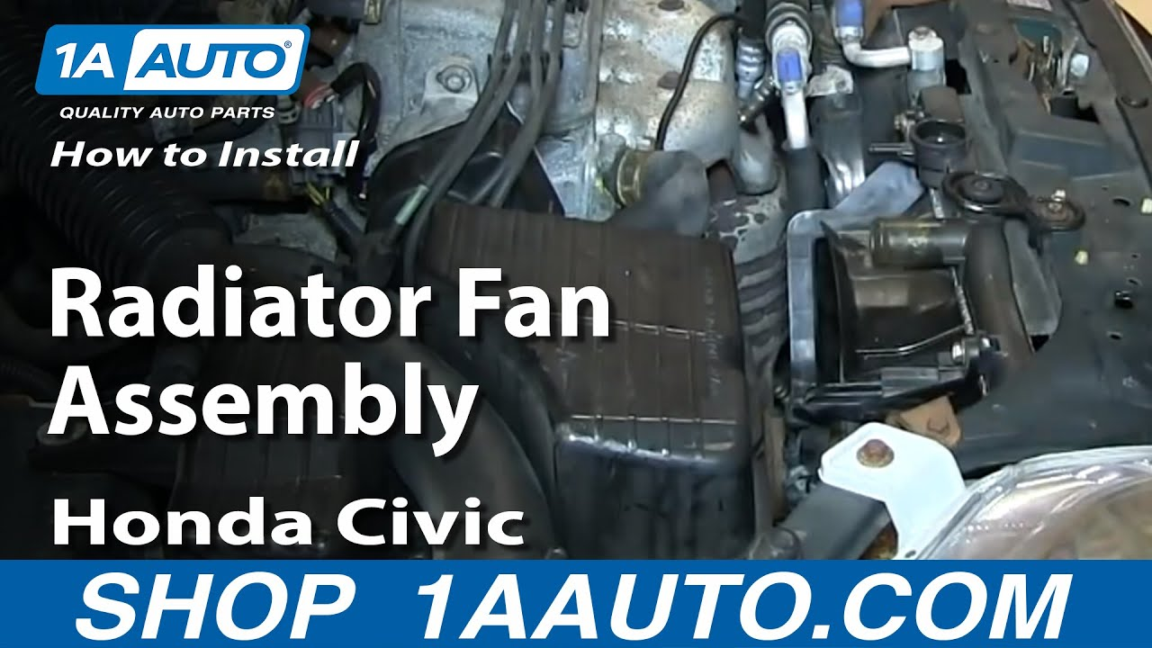 How to Replace Radiator Cooling Fan embly 92-98 Honda Civic Radiator Honda Civic Fan Wiring Harness on