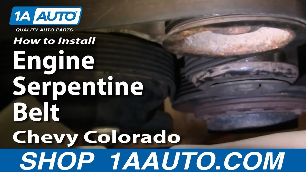 How to Replace Serpentine Belt 04-12 Chevy Colorado