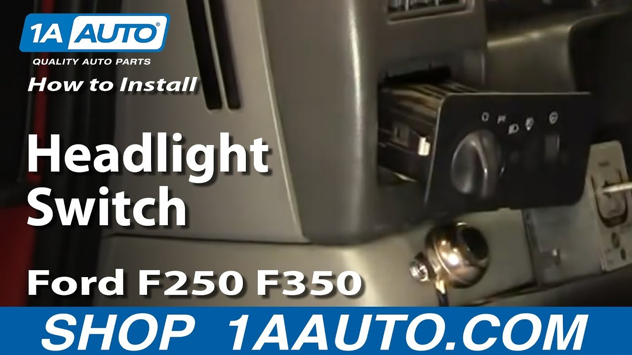 How to Replace Headlight Switch 01-24 Ford F250 Super Duty Truck