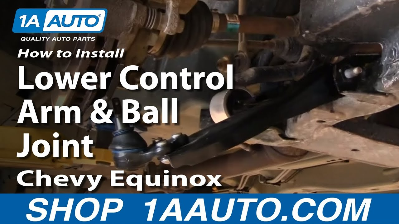 How To Replace Lower Control Arm and Ball Joint 05-09 Chevy Equinox