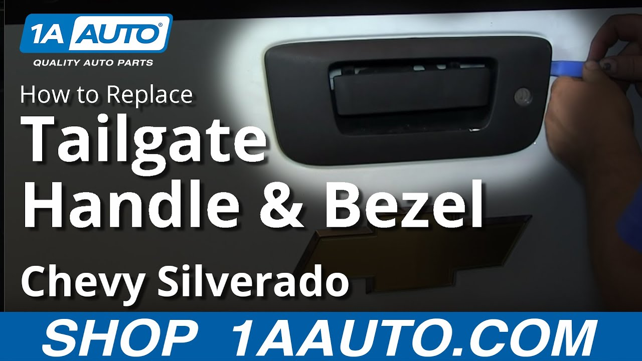 How to Replace Tailgate Handle & Bezel 07-13 Chevy Silverado