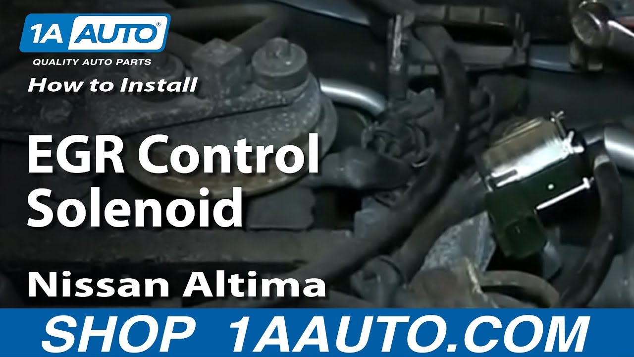How to Replace EGR Control Solenoid Valve 98-01 Nissan Altima