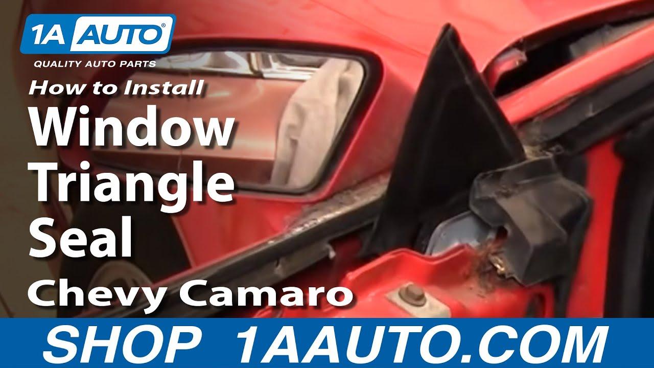 How To Install Remove Window Triangle Seal 82-92 Chevy Camaro IROC-Z Pontiac Trans Am 1AAuto.com