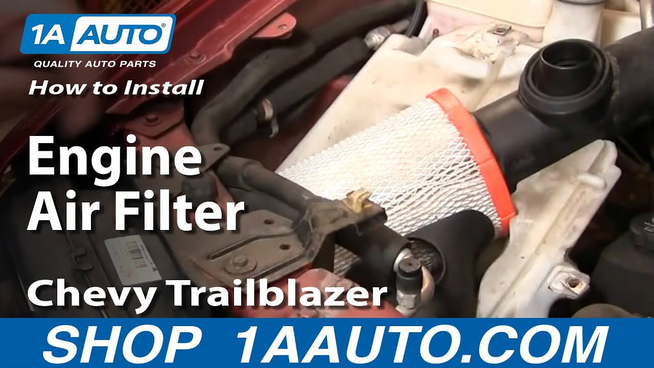 How To Replace Engine Air Filter 02-09 Chevy Trailblazer