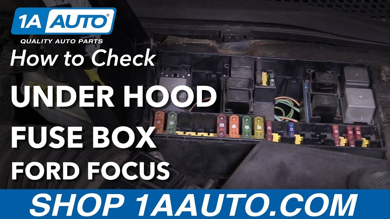 How to Check Under Hood Fuses 00-04 Ford Focus