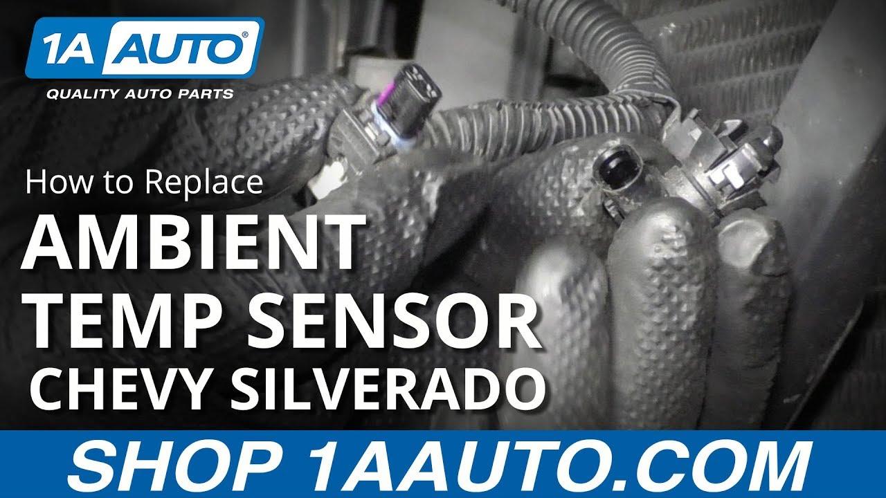 How to Replace Ambient Temp Sensor 14-19 Chevy Silverado