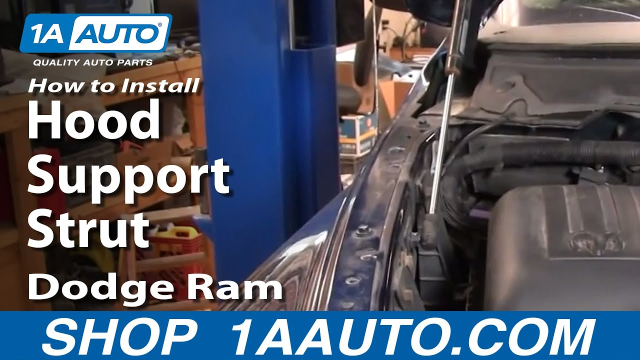 How to Replace Hood Lift Supports 02-07 Dodge Ram 1500