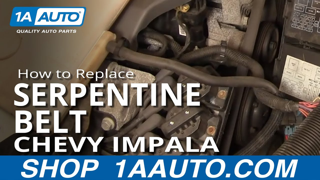 How to Replace Serpentine Belt 00-02 Chevy Impala