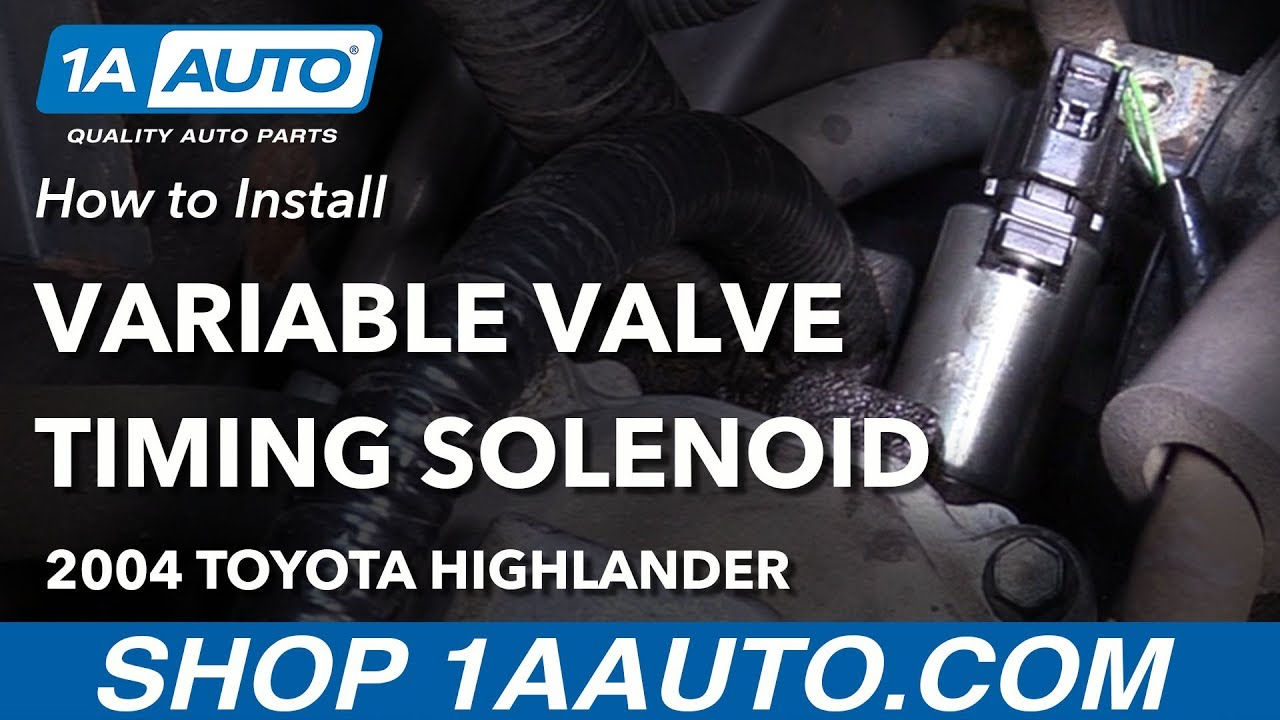 How to Replace Variable Valve Timing Solenoid 01-07 Toyota Highlander L4 2.4L