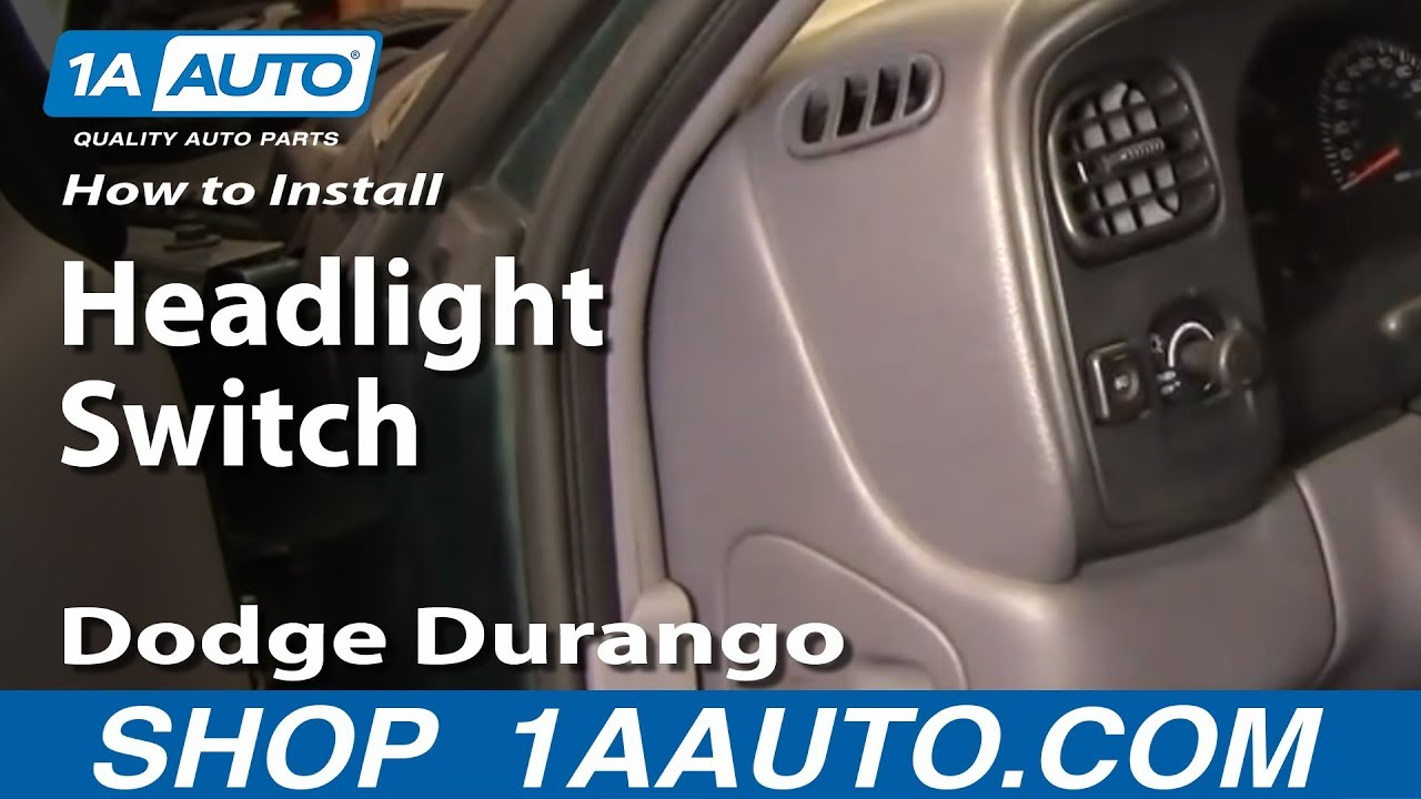 How To Replace Headlight Switch 98 Dodge Durango