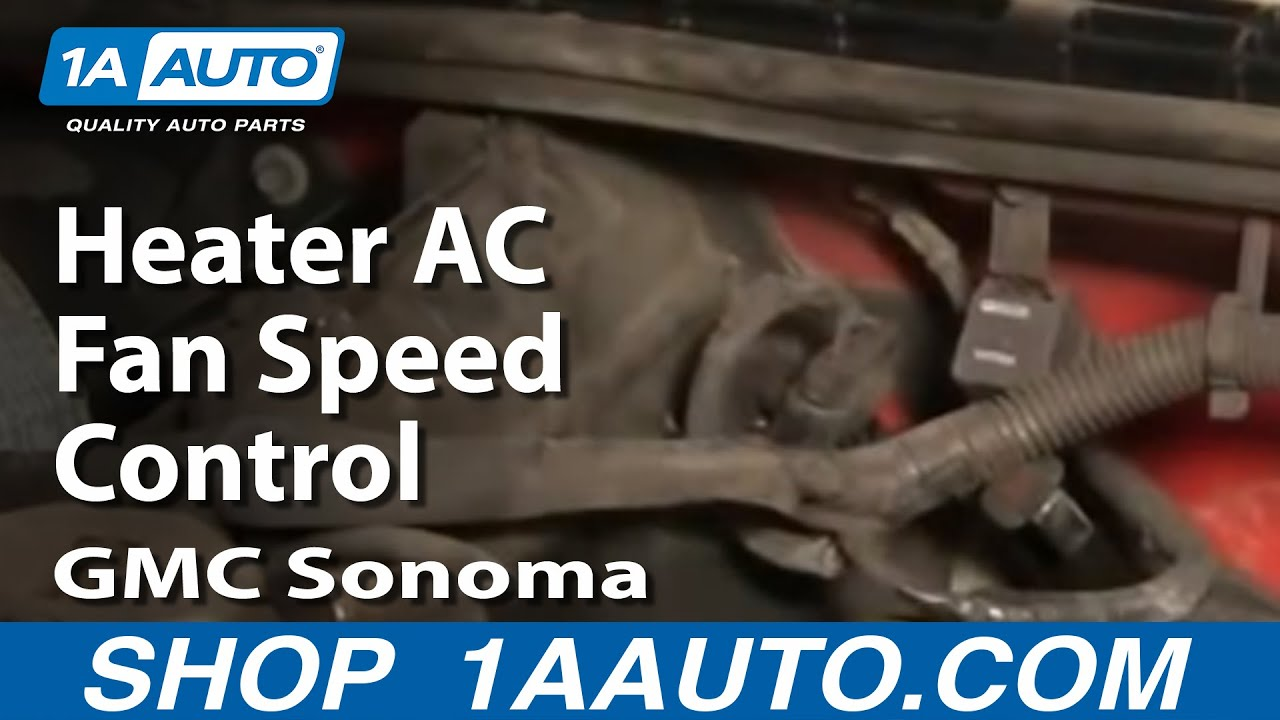 How to Replace Blower Motor Resistor 95-03 GMC Sonoma | 1A Auto  S Blower Motor Wiring Diagram on s10 fuel gauge wiring, s10 instrument cluster wiring, s10 headlight wiring, s10 starter wiring, s10 fuel pump wiring, s10 electric fan wiring, s10 ignition switch wiring, s10 alternator wiring, s10 distributor wiring,
