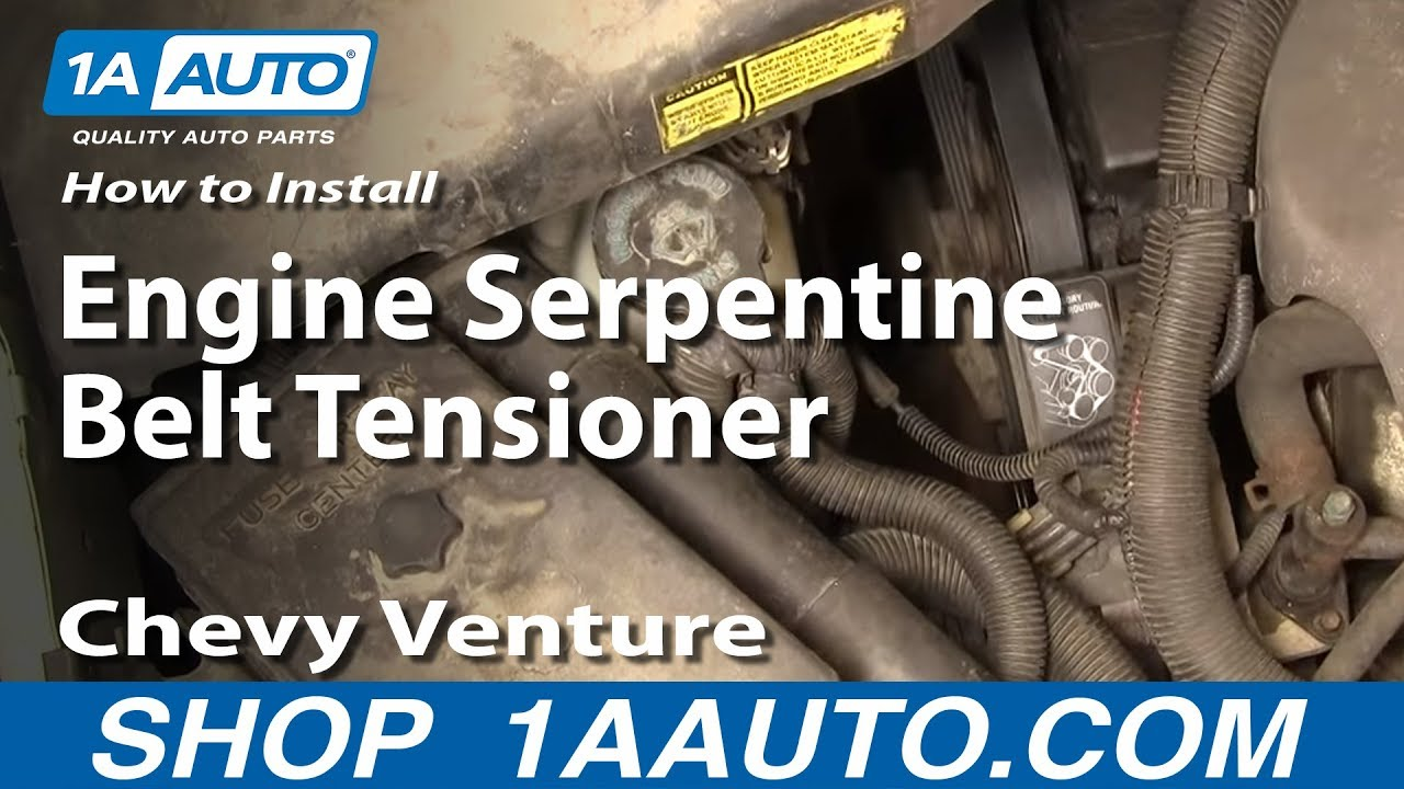 How to Replace Serpentine Belt Tensioner 97-98 Chevy Venture
