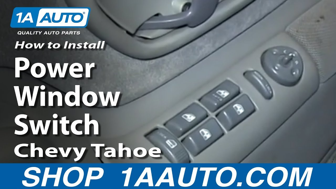 How To Replace Power Window  U0026 Door Lock Switch 95