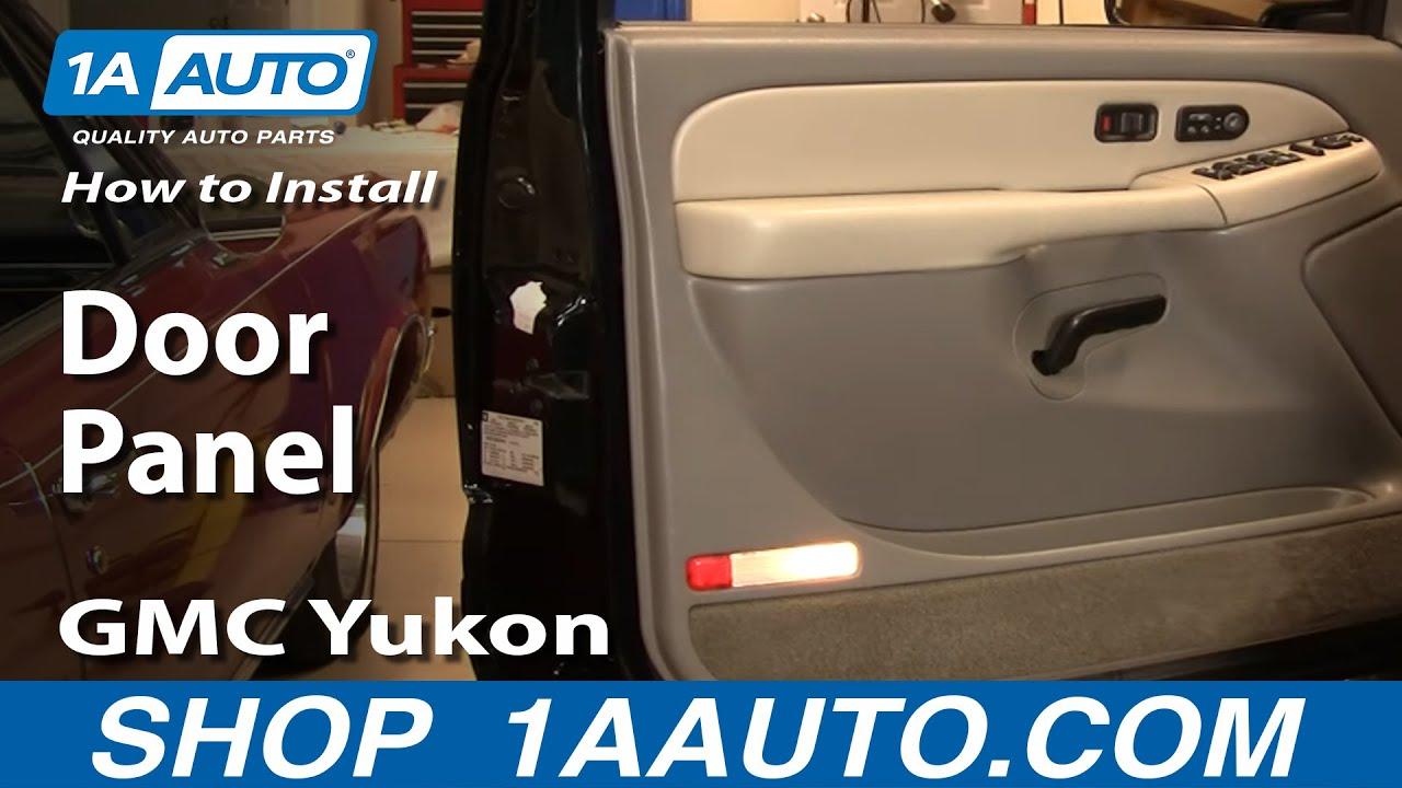 How To Remove Door Panel 99 02 Gmc Yukon 1a Auto