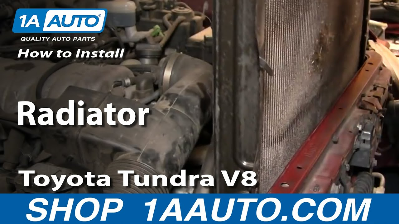 How to Replace Radiator 00-06 Toyota Tundra V8