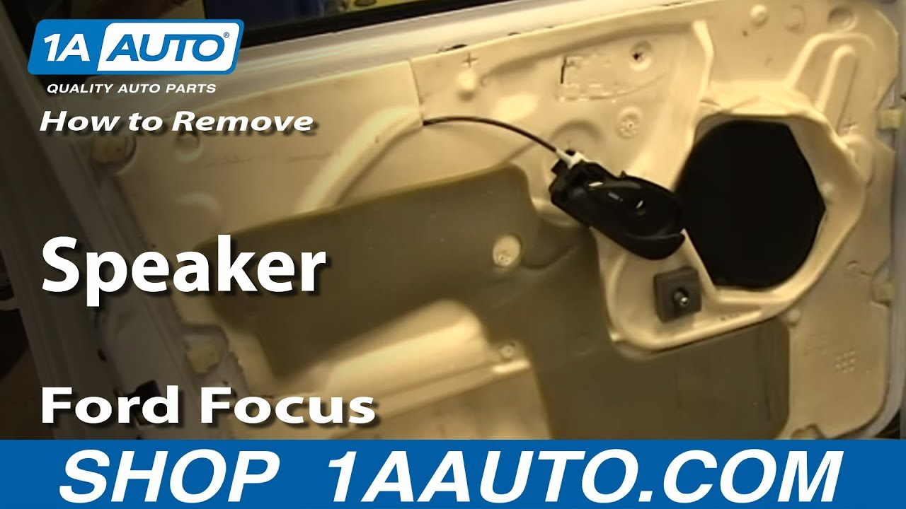 How To Remove Front Door Speaker 02-07 Ford Focus