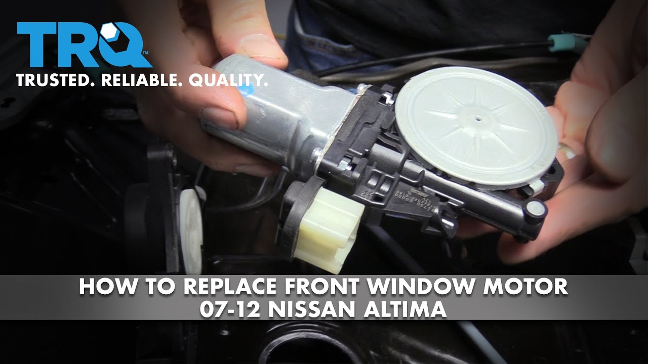 How to Replace Front Window Regulator and Motor 07-12 Nissan Altima