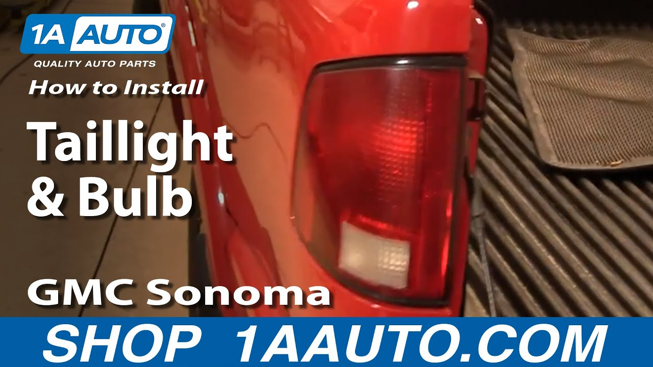 How to Replace Tail Light 94-04 GMC Sonoma