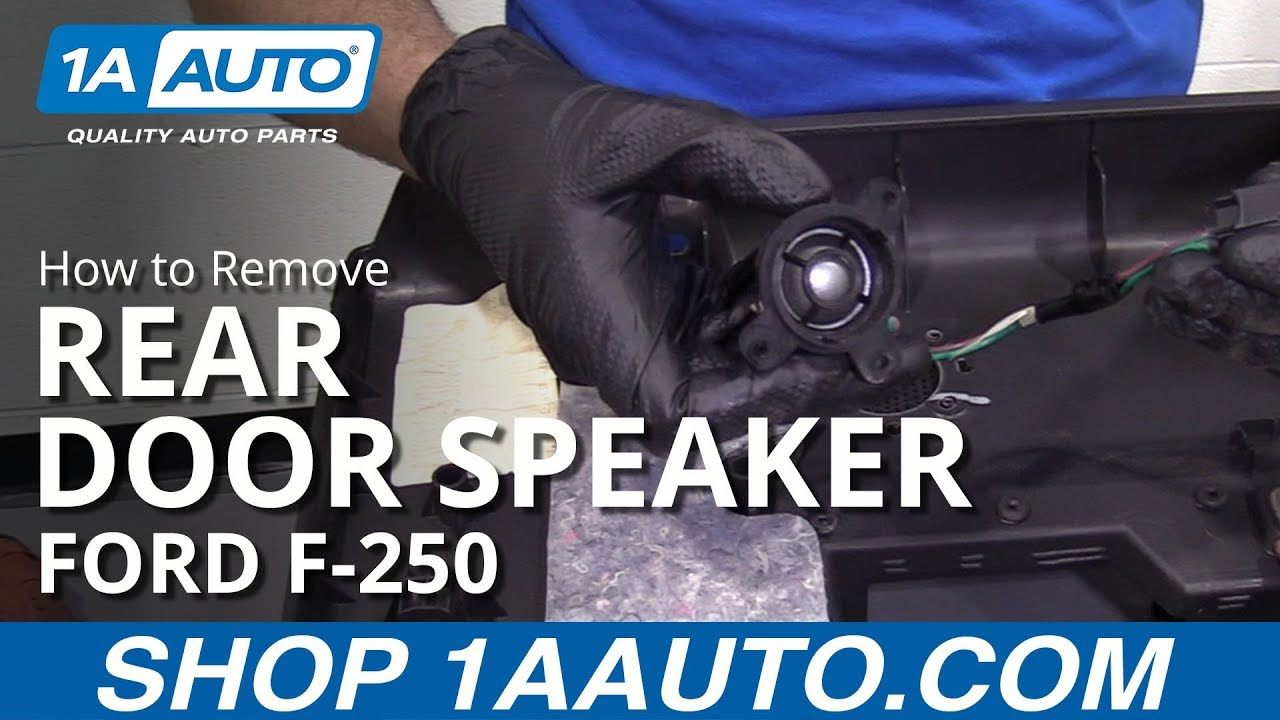 How to Remove Rear Door Speaker 11-16 Ford F250