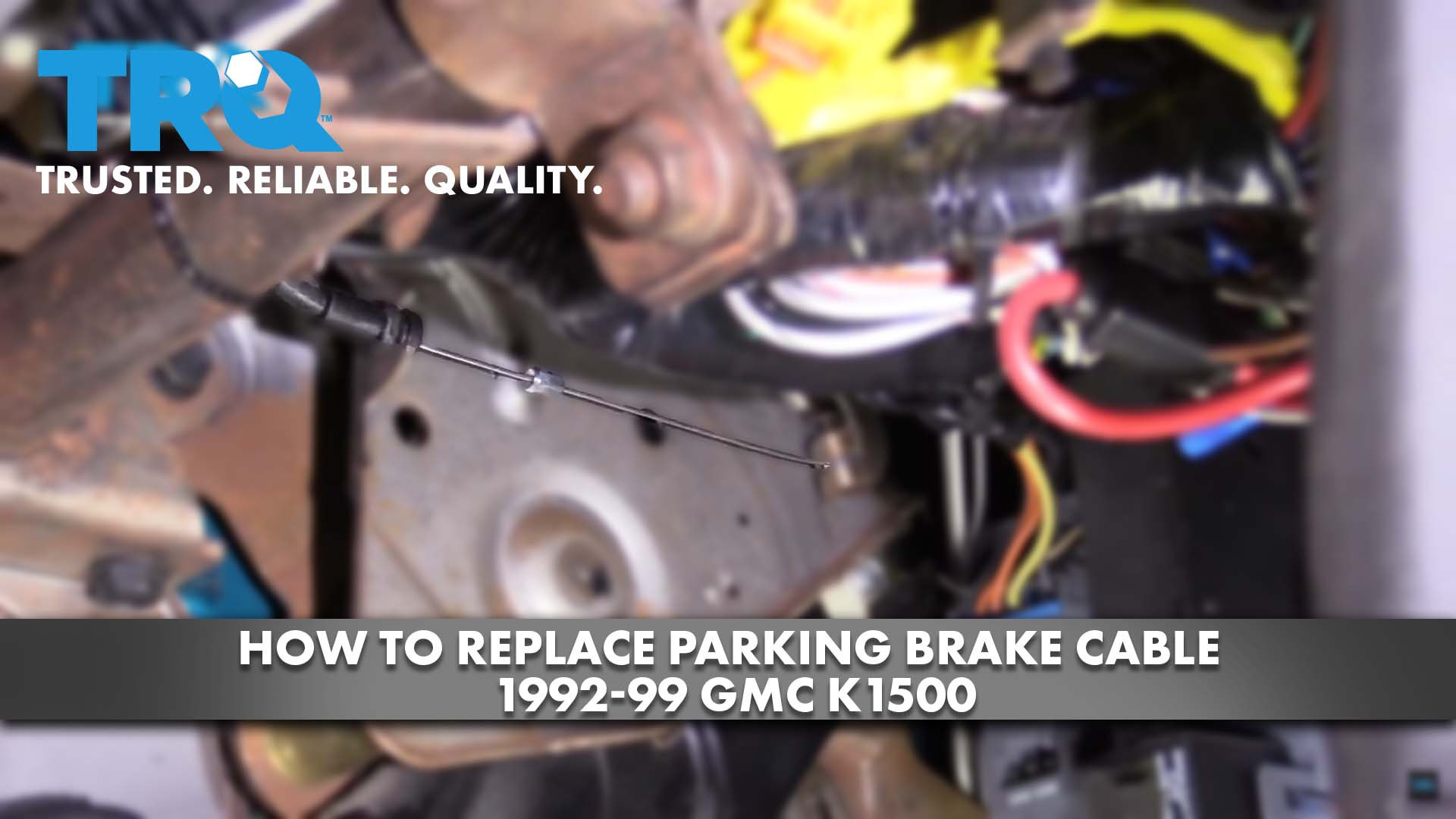 How to Replace Parking Brake Cable 92-99 GMC K1500