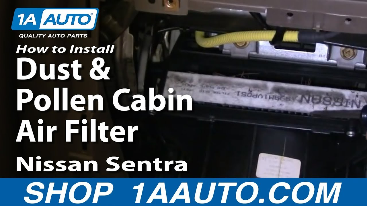 How to Replace Cabin Air Filter 00-06 Nissan Sentra
