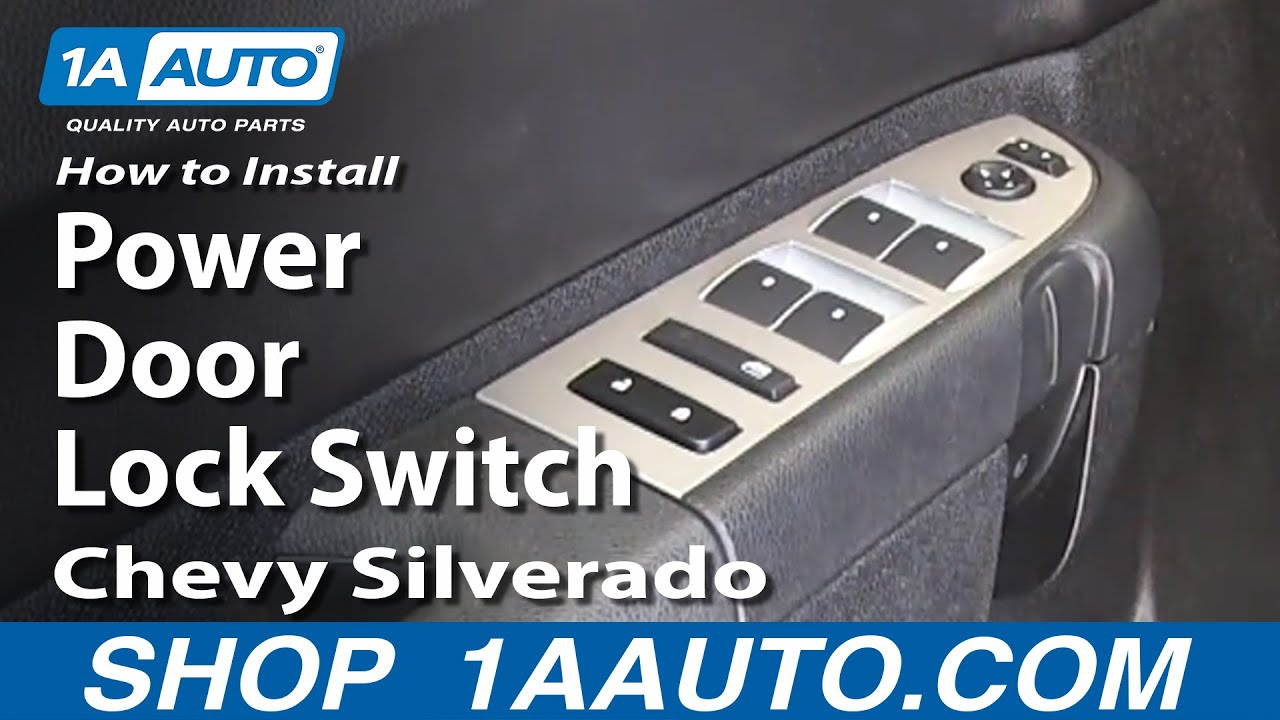 How To Replace Power Door Lock Switch 07 13 Chevy