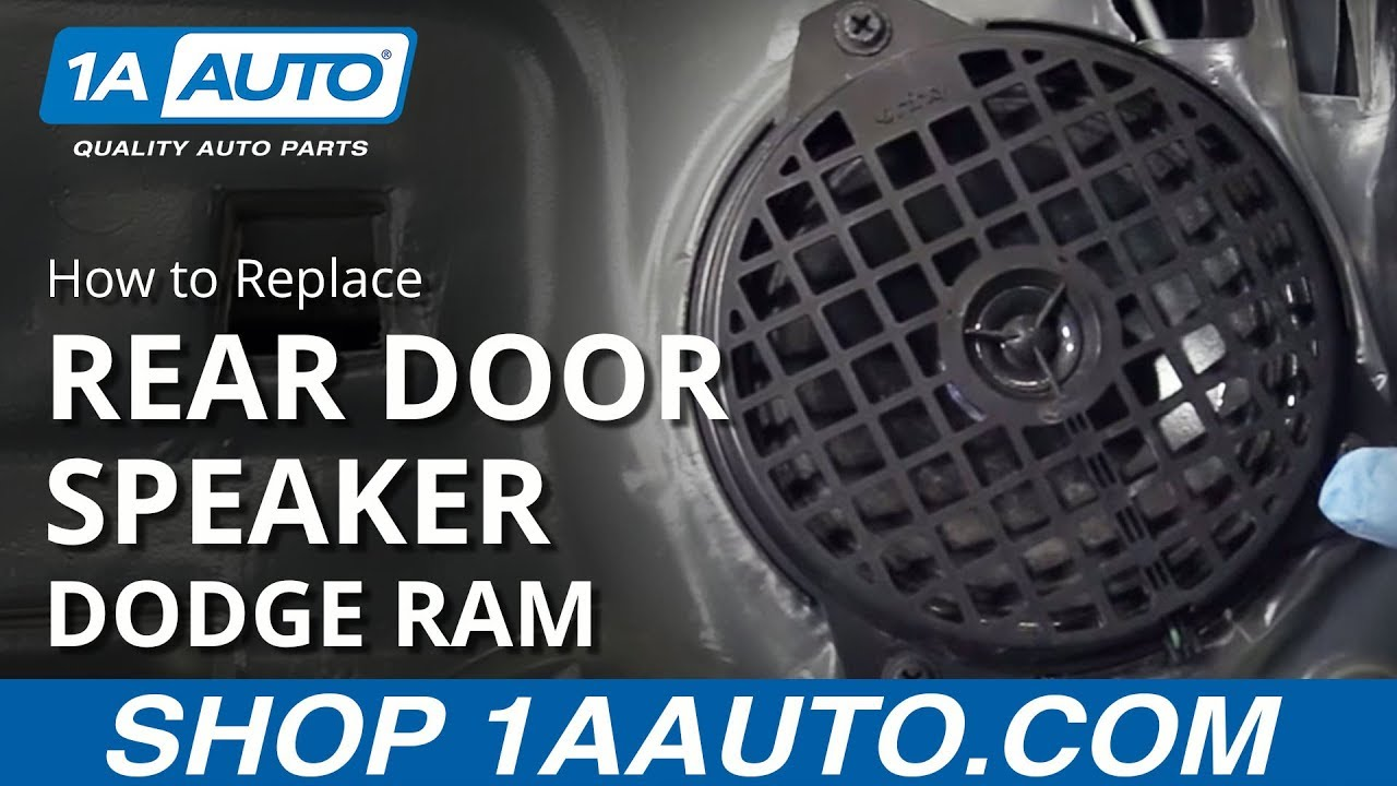 How to Replace Rear Door Speaker 02-08 Dodge Ram