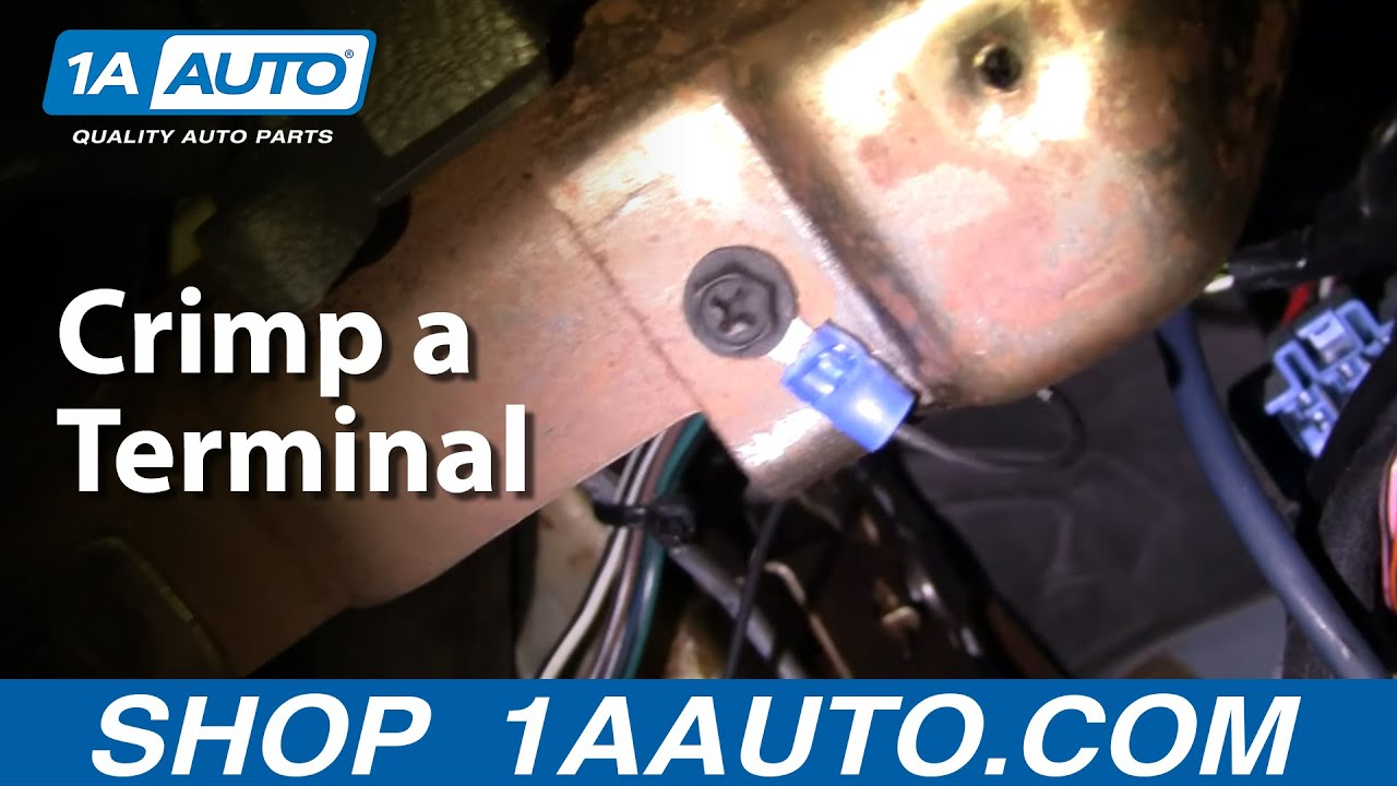 Automotive How - To Crimp a Terminal Onto The End of a Wire
