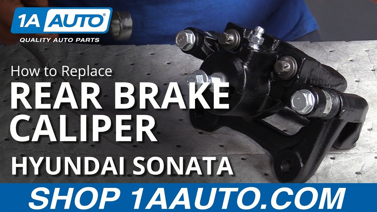 How to Replace Rear Brake Caliper 10-14 Hyundai Sonata