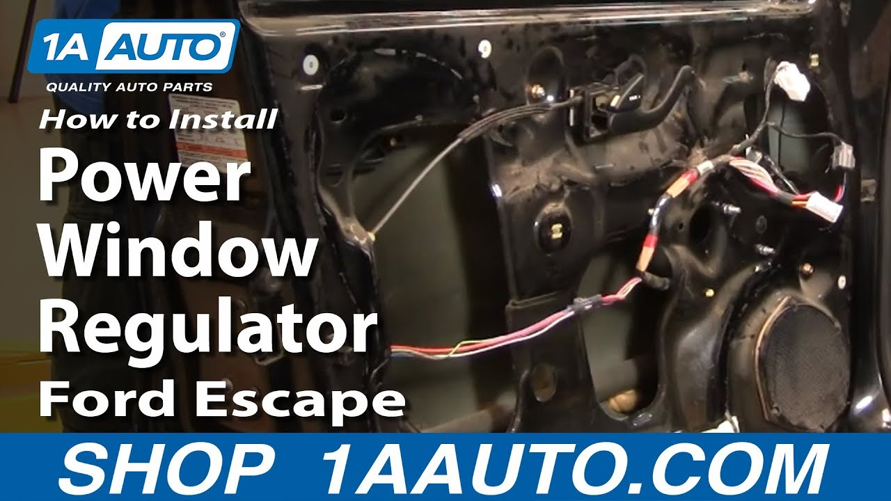 How To Replace Window Regulator 01 07 Ford Escape 1a Auto