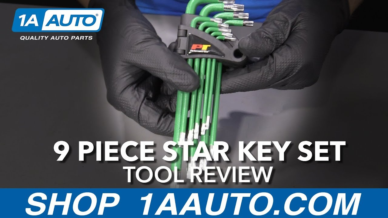 9 Piece Star Key Set - Available at 1aauto.com