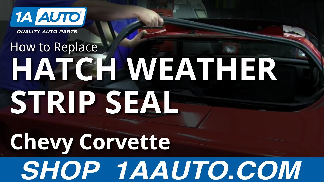 How to Replace Hatch Weatherstrip Seal 84-1996 Chevy Corvette