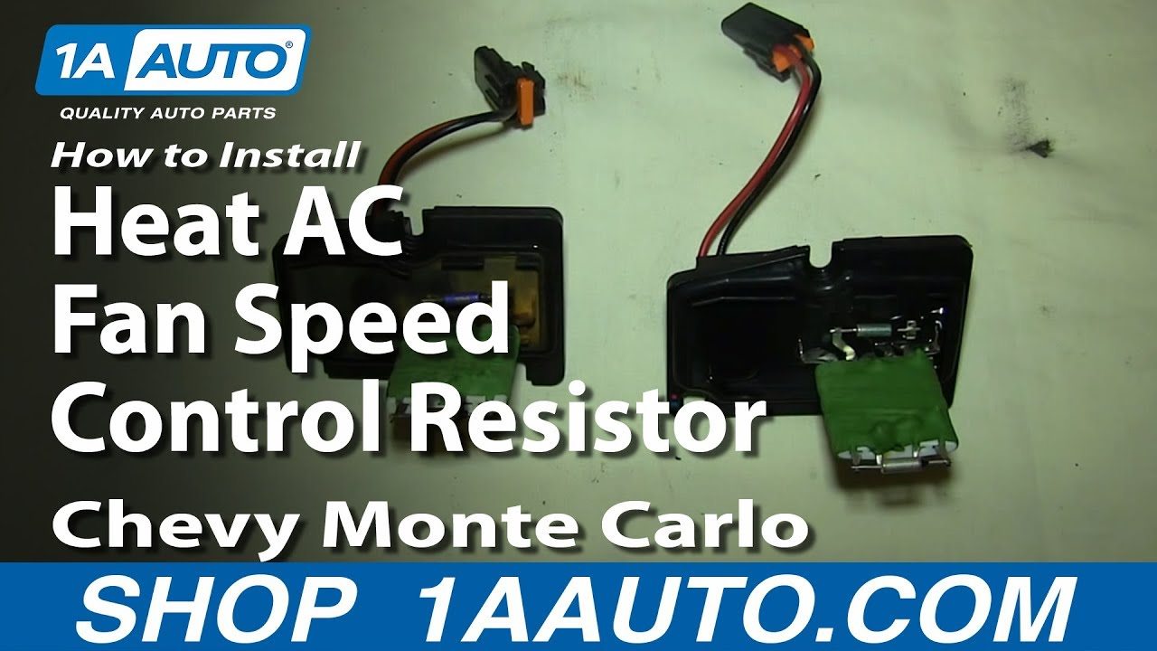 How To Replace Blower Motor Resistor 00 05 Chevy Monte