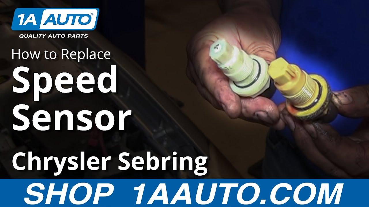 How to Replace Speed Sensor 96-09 Chrysler Sebring