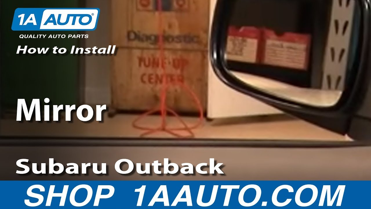 how to replace mirror 00 04 subaru outback 1a auto2006 Subaru Outback Wiring Mirror #10