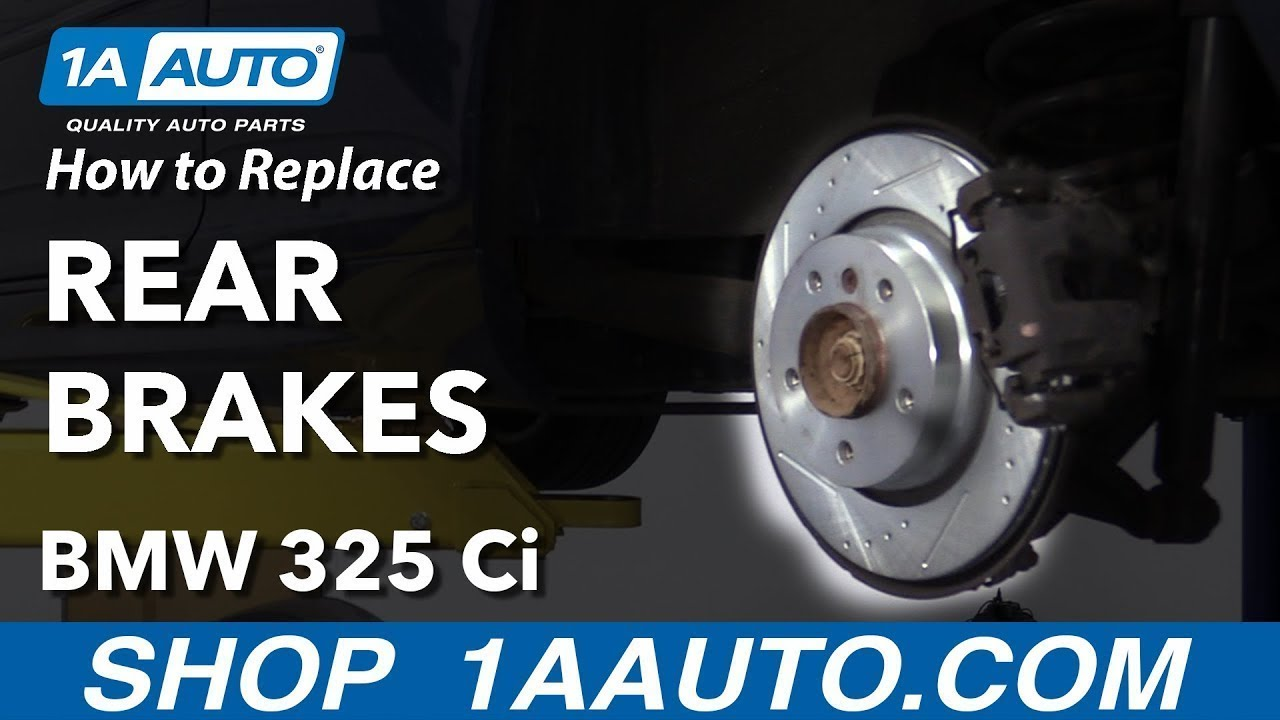 How to Replace Rear Brakes 04-13 BMW 325 Ci