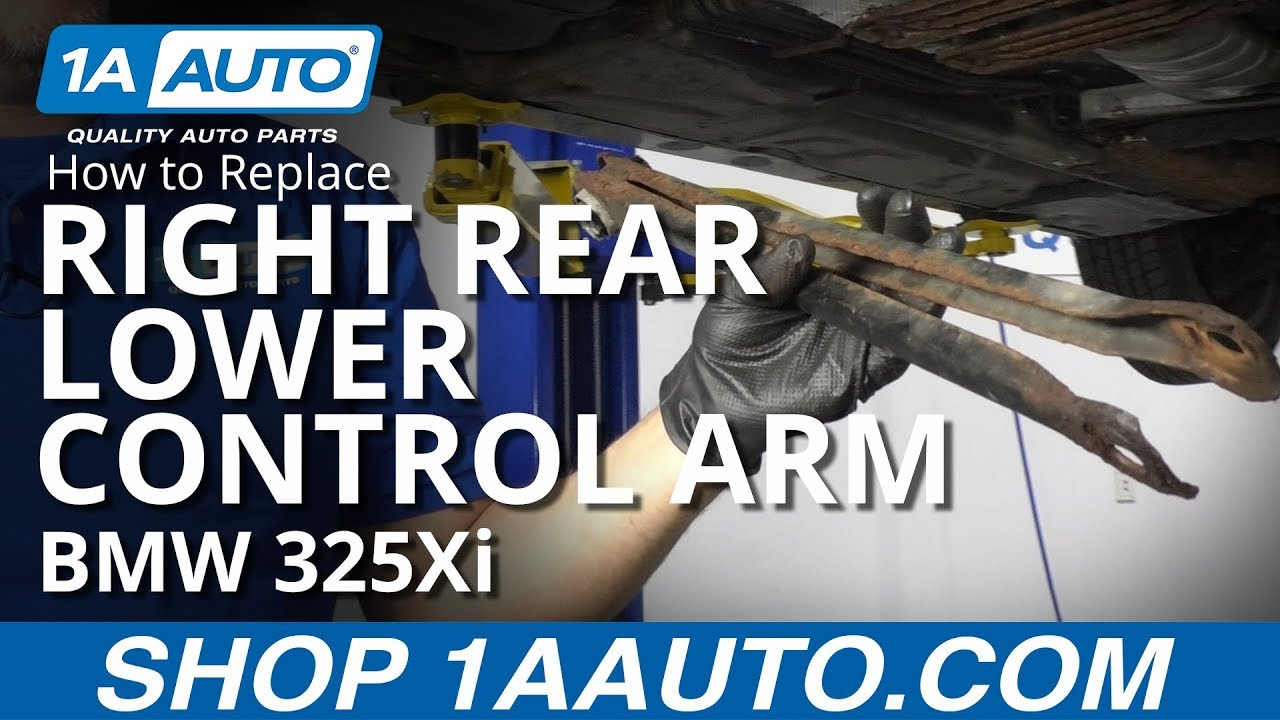 How to Replace Right Rear Lower Control Arm 01-06 BMW 325Xi